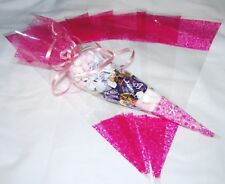 Cone Cellophane Party Bags - Top Quality Cellos for Birthdays FREE TWIST TIES