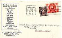 AUSTRALIA 191+203 ON 1946 AUTOMOTIVE ADVERTISING COVER TO DETROIT, MI    NICE