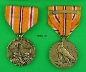 WWII Asiatic Pacific Campaign Medal - Full size USA Made-  APCM ASIA