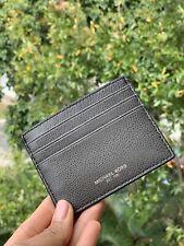 Michael Kors Men Leather Credit Card Holder Card Case Slim Travel Wallet Grey id
