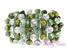 Anillos de bisutería de cristal de cristal de color principal verde