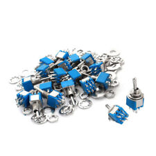 20 Pcs AC 125V 3A 6mm Panel Mount Dia DPDT ON/ON Locking Toggle Switch 10x8x 7mm