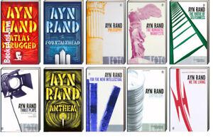 Atlas Shrugged,Fountainhead,Capitalism,Manifesto +by Ayn Rand (10 Paperbacks)