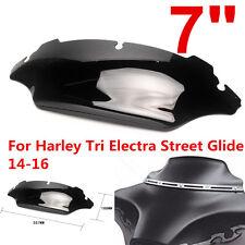 "7"" Windshield Windscreen For Harley Tri Electra Street Glide 14-16 15 Dark Smoke"