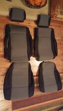 Pair Rugged Ridge 13213.04 Black /& Tan Custom Neoprene Front Seat Cover