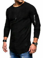 Men's Slim Pullover O Neck Long Sleeve Tee T-shirt Casual Tops Blouse