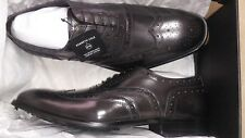 Kenneth Cole NY Men's 'MEDALLION TOE' Wing Tip Oxfords, Dark Grey, M Size 12