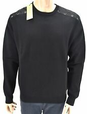 VERSACE JEANS MAN PULLOVER SWEATER CREWNECK WINTER CASUAL COTTON ART. B5GSB834