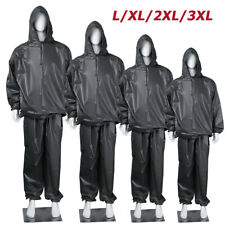 L-3XL Heavy Duty Sweat Suit Sauna Exercise Gym Fitness Weight Loss For Men Women