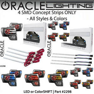 ORACLE 4 Concept Strips for Projector Headlights for 09-14 Ford F150 *All Colors