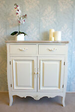Casamoré Devon 2 Drawer 2 Door Sideboard Cupboard Cream Painted Shabby Chic