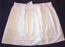 J Crew Skirt XS White Eyelet Pull On Skirt f0808 NWT $$49.50 Fully lined