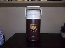 Rare UPS United Parcel Service Igloo Water Jug 1/2 gallon Brown Logo Cooler