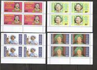 Tanzania SC # 267-270 Queen Mother 85 Birthday. Plus 2 Souvenir Sheets.  MNH.