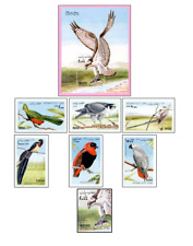 AFG98052 Birds 6pcs block and stamp from the block
