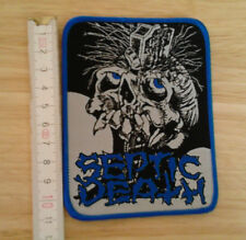 SEPTIC DEATH woven Patch Poison Idea Discharge D.R.I. Anti Cimex Circle Jerks
