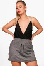 Boohoo Patternless Plus Size Shorts for Women