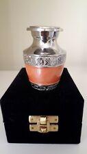 "Memorial Keepsake Cremation Ashes Urn 2.5"" Small - Salmon Nickel"