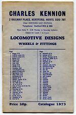 "1973 Vintage UK Catalog: ""LOCOMOTIVE DESIGNS - WHEELS & FITTINGS"""