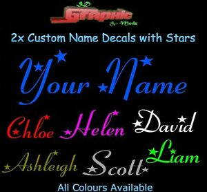2 x Personalised Name Vinyl Sticker,Decal,Car ,Window,Laptop,Wall,Mirror,Phone