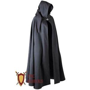 Cotton tunic Clothing Aaron Canvas Cloak Medieval Renaissance with Hood Sca Larp