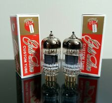 PLATINUM Matched Pair (2) Genalex ECC83/12AX7/CV4004 tubes Gold Pins