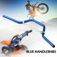 Blue Pit Dirt Bike Braced Handlebars Handle Bars 50cc 110cc 125cc 140cc Pitbike