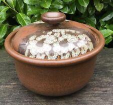 "Vintage Crich Studio Pottery Diana Worthy Large 9.25"" Lidded Casserole Dish"