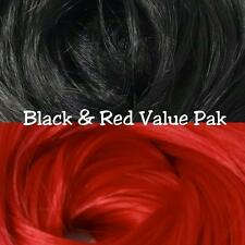 Black & Red XL 4oz 2 Color Value Pack Nylon Doll Pony Hair Reroot Barbie Crissy