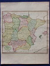 Original antique map, SPAIN & PORTUGAL, S.J. Neele, c.1805