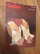 Cálido accesorios de pesca Tejer patrón Copley Nº 482 años 70 Original Vintage