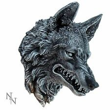 Wolf Wall Plaque 28cm High Lycanthrope Werewolf Head Nemesis Now