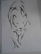 Schablone Panther auf A4