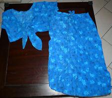 Ensemble Boléro + jupe/pantalon imprimé fleur T38 NEUF