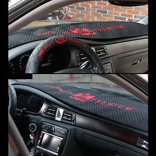 VIP Universal Car Dashboard Cover Red Logo Black Dashmat Carpet Sun Cover Pad