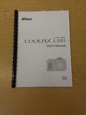 NIKON COOLPIX L310 CAMERA FULLY PRINTED USER GUIDE INSTRUCTION MANUAL 164  PAGES