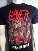 AUTHENTIC SLAYER REIGN IN BLOOD DEATH BLACK HEAVY METAL MUSIC BAND T SHIRT S-2XL
