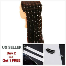 Crystal Hair Extension Bling Diamonds Clip-in Extension Wedding Party Hair Clip