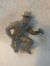 Marx civil war Battle of Blue/Gray plastic Kneeling BINOCULARS toy soldier 54mm