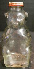 "Vintage Mid Century Snow Crest Bear Bottle Bank 7"" x 3.25"" x 3""  Very Good Cond"
