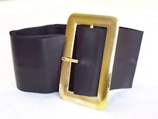 Chunky Pirate Santa Leather Look Black Belt Excellent For Santa Costume