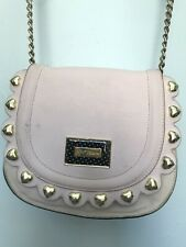 Betsey Johnson Pink, Black, Gold Cross body Handbag