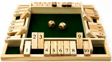 4 player Wooden Shut the box game