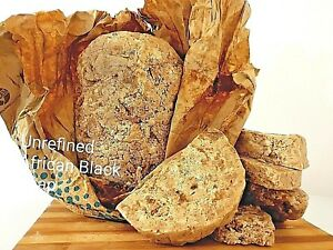 "RAW 100% African Black Soap 100% ""Cleanse Acne/Eczema/Rash/Psoriasis"" 500gram"