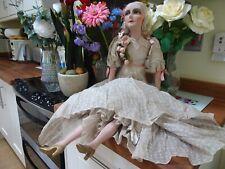 1920s boudoir doll large size vintage antique