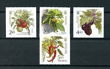 Ukraine 2016 Mnh Vegetables Tomatoes Eggplants Peppers 4v S/A Set Plants Stamps