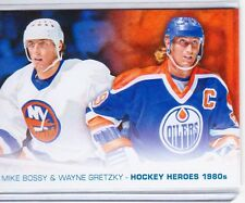 13-14 2013-14 UPPER DECK 1 HOCKEY HEROES ART PAINTING WAYNE GRETZKY BOSSY HH-52