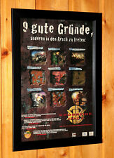 KKND2 Krossfire Video game Old Rare Small Poster / Vintage Ad Page Framed PS1