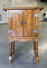 Antique Art Deco Smoking Pipe Tobacco Humidor Night Stand Cabinet Table NICE