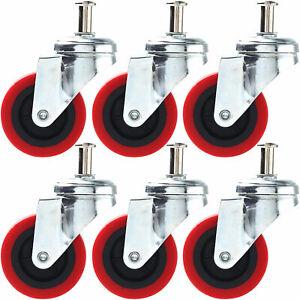 Color : Beige, Size : 4in 4 Pack M1230MM Heavy Duty Threaded Stem Mount Castor Wheels Locking Swivel Wheel for Trolleys Tool Cart
